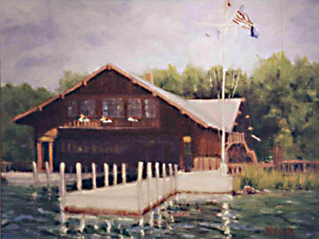 Les Cheneaux Yacht Club House by Roger Heuck